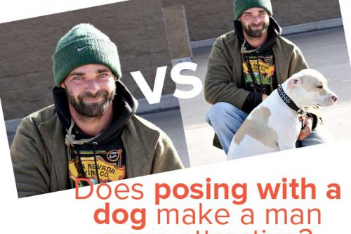 Photo Battle: Does Posing With a Dog In the Picture Make a Man More Attractive?
