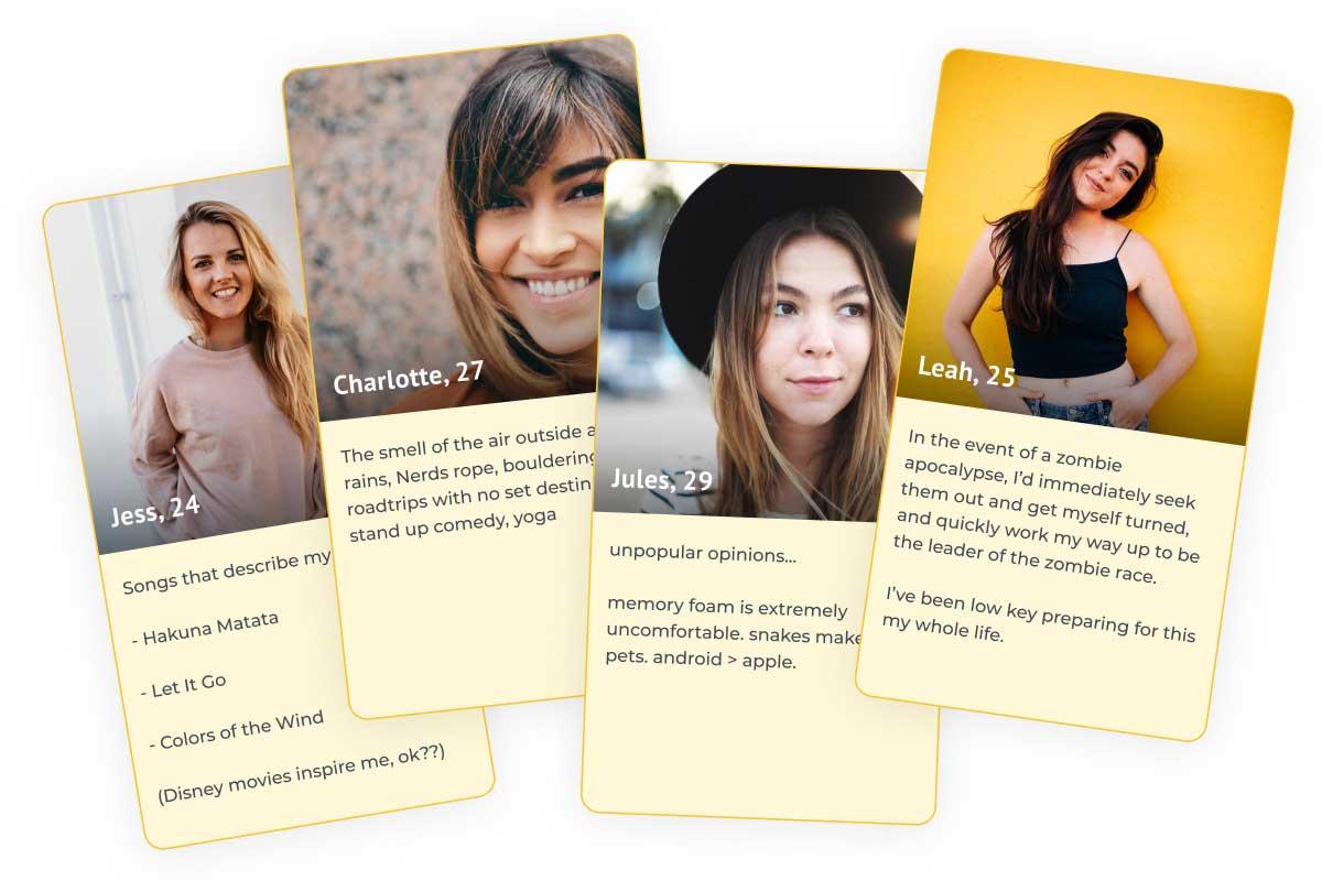 Inspirational dating profiles